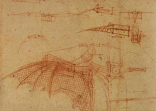 "Картина ""Design for a Flying Machine"" художника ""да Винчи Леонардо"""