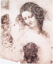 "Копия картины ""Head of Leda"" художника ""да Винчи Леонардо"""