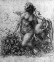"Картина ""Леда и лебедь"" художника ""да Винчи Леонардо"""