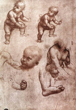 "Репродукция картины ""Study of a child"" художника ""да Винчи Леонардо"""