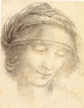 """Картина """"Head of Saint Anne"""" художника """"да Винчи Леонардо"""""""