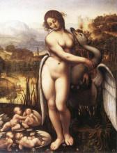 """Копия картины """"Leda and the Swan"""" художника """"да Винчи Леонардо"""""""