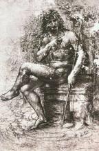 """Картина """"Study for St. John in the Wilderness"""" художника """"да Винчи Леонардо"""""""