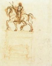 """Картина """"study for the trivulzio monument"""" художника """"да винчи леонардо"""""""