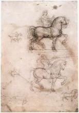 "Копия картины ""Equestrian monument"" художника ""да Винчи Леонардо"""