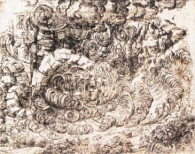 "Репродукция картины ""natural disaster"" художника ""да винчи леонардо"""