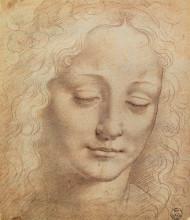 "Картина ""female head"" художника ""да винчи леонардо"""