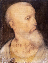"Копия картины ""Head of St. Andrew"" художника ""да Винчи Леонардо"""