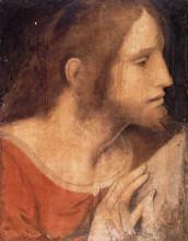 """Репродукция картины """"Head of St. James the Less"""" художника """"да Винчи Леонардо"""""""