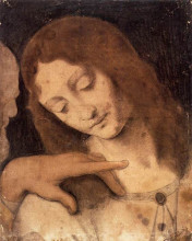 "Копия картины ""Head of St. John the Evangelist"" художника ""да Винчи Леонардо"""
