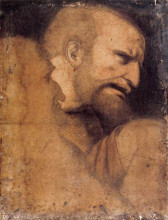 "Репродукция картины ""Head of St. Peter"" художника ""да Винчи Леонардо"""