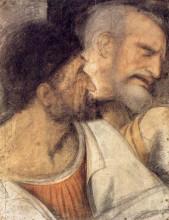 "Копия картины ""Heads of Judas and Peter"" художника ""да Винчи Леонардо"""