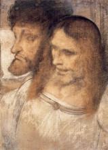 "Репродукция картины ""Heads of Sts Thomas and James the Greater"" художника ""да Винчи Леонардо"""