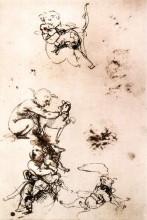 "Копия картины ""Study of a child with a cat"" художника ""да Винчи Леонардо"""