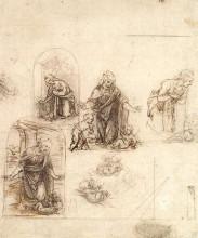 "Копия картины ""Studies for a Nativity"" художника ""да Винчи Леонардо"""