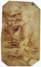 """Копия картины """"study of an old man"""" художника """"да винчи леонардо"""""""