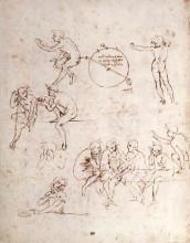 """Репродукция картины """"Various figure studies"""" художника """"да Винчи Леонардо"""""""