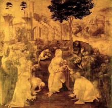 """Картина """"Поклонение волхвов"""" художника """"да Винчи Леонардо"""""""