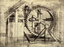 "Репродукция картины ""Crossbow Machine"" художника ""да Винчи Леонардо"""