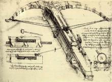 "Репродукция картины ""Design for a Giant Crossbow"" художника ""да Винчи Леонардо"""