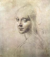 """Картина """"Head of a girl"""" художника """"да Винчи Леонардо"""""""