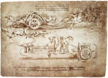 "Репродукция картины ""Scythed Chariot"" художника ""да Винчи Леонардо"""