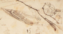 "Картина ""designs for a boat"" художника ""да винчи леонардо"""