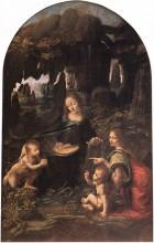 "Репродукция картины ""The Virgin of the Rocks"" художника ""да Винчи Леонардо"""