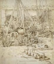 """Репродукция картины """"An Artillery Park.jpg"""" художника """"да Винчи Леонардо"""""""