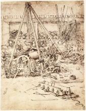 """Копия картины """"Cannon foundry"""" художника """"да Винчи Леонардо"""""""