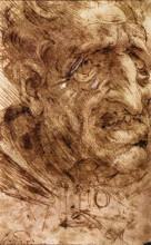 """Картина """"Head of an Old Man"""" художника """"да Винчи Леонардо"""""""
