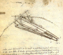 "Копия картины ""One of Leonardo da Vinci's designs for an Ornithopter"" художника ""да Винчи Леонардо"""