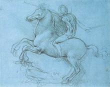 "Копия картины ""A study for an equestrian monument"" художника ""да Винчи Леонардо"""