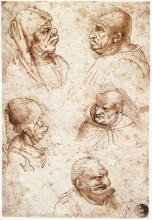 """Копия картины """"five caricature heads"""" художника """"да винчи леонардо"""""""
