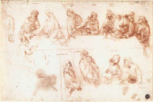 "Копия картины ""Study for the Last Supper"" художника ""да Винчи Леонардо"""