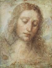 "Репродукция картины ""Head of Christ"" художника ""да Винчи Леонардо"""