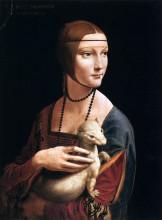 """Копия картины """"the lady with an ermine (cecilia gallerani)"""" художника """"да винчи леонардо"""""""