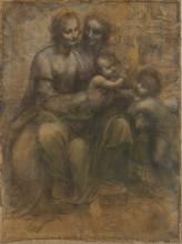 "Репродукция картины ""the virgin and child with saint anne and saint john the baptist"" художника ""да винчи леонардо"""