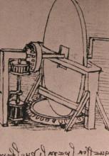 "Репродукция картины ""Design for a machine for grinding convex lenses"" художника ""да Винчи Леонардо"""