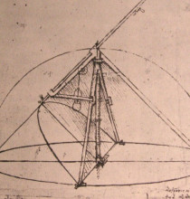 "Картина ""Design for a parabolic compass"" художника ""да Винчи Леонардо"""