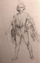 "Копия картины ""drawing of a fancy dress costume"" художника ""да винчи леонардо"""