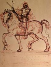 """Картина """"Drawing of an equestrian monument"""" художника """"да Винчи Леонардо"""""""