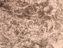 "Репродукция картины ""Drawing of an flood"" художника ""да Винчи Леонардо"""
