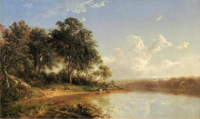"Картина ""Afternoon along the Banks of a River"" художника ""Джонсон Дэвид"""