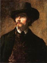 """Картина """"Man with a Hat"""" художника """"Джонсон Истмен"""""""
