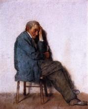 "Репродукция картины ""Old Man, Seated"" художника ""Джонсон Истмен"""