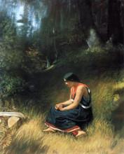 "Репродукция картины ""Hiawatha"" художника ""Джонсон Истмен"""