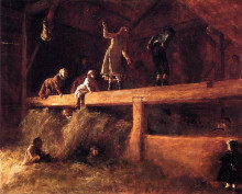 "Копия картины ""In the Hayloft"" художника ""Джонсон Истмен"""