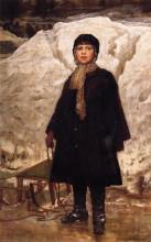 "Копия картины ""Winter, Portrait of a Child"" художника ""Джонсон Истмен"""