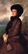 """Картина """"Ethel Eastman Johnson Conkling with Fan"""" художника """"Джонсон Истмен"""""""